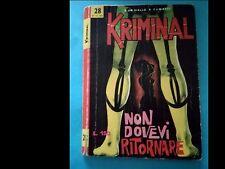 KRIMINAL nr. 28 del 1965 (ed. Corno)