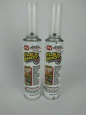 (2) Flex Shot By Flexseal White 8-oz. Rubber Adhesive Sealant Free Shipping