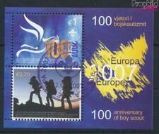kosovo (nations unies-de gestion) Bloc 6 oblitéré 2007 scout (9077277