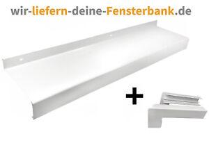 Set 1400 mm, anthrazit Auslage 210 mm Aluminium Endkappen f/ür Putz bis 2m Zuschnitt auf Ma/ß Alu Fensterbank anthrazit inkl