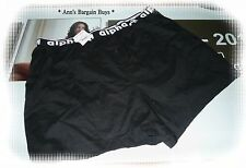 ALPHA MALE * Men's-All Cotton-Boxer Shorts -Size XL-Black-BNWT