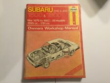 SUBARU 1600 1800 SERIES 2 HAYNES WORKSHOP MANUAL 2WD 4WD Inc GL GLF GFT 1979-83