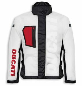 Ducati Spidi Aqua Waterproof Rain Jacket Transparent