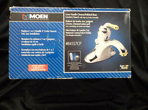Moen 84557CP Lavatory Faucet with Pop-Up Drain Assembly - NEW/STILL FACTORY SEAL