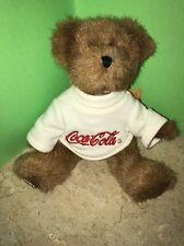 Boyds Bears Stuffed Plush Coca Cola Teddy Bear ~ Billy ~ Mint With Tags MWT