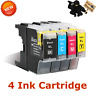 4x Ink Cartridge Color Set For Brother LC71 LC75 MFC-J430W MFC-J825DW Printer