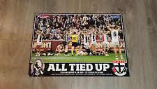 AFL 2010 DRAW COLLINGWOOD VS ST KILDA GRAND FINAL PREMIERSHIP PRINT POSTER