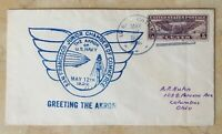 ORIGINAL AIRSHIP ZRS-4 USS AKRON + USS PATOKA at SAN FRAN. POSTAL COVER MAY 1932
