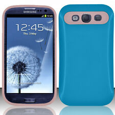 For Samsung Galaxy S III 3 TPU Candy HYBRID GLOW Case Phone Cover Blue Pink