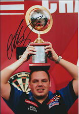 Adrian LEWIS Signed 12x8 Autograph Photo AFTAL COA Darts Grand Prix Finalist