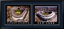 NEW YORK YANKEES, OLD & NEW STADIUMS DOUBLE IMAGE FRAME