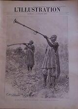 L'ILLUSTRATION 1897 N 2811 LES TROMPETTES DU ROI DE BOUSSA, AU NIGER