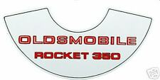 69 70 71 72 73 74  OLDSMOBILE 350-4  AIR CLEANER  DECAL