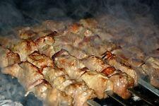 10 BBQ STICKS  SKEWERS STAINLESS FLAT SHISH KEBOB KEBAB KABAB SOUVLAKI SHASHLIK