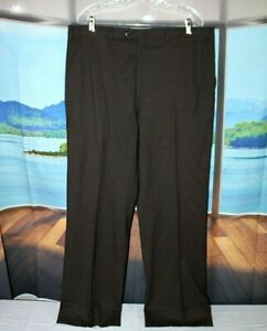 BRIONI 38 X 30 Made in Italy 130's Wool Brown Recent CANNES Darted Dress Pants