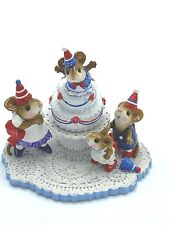 Wee Forest Folk Miniature Figurine M2002 Surprise 30th Anniversary Party