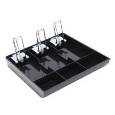 Cabinet Cash Drawer Register Insert Money Tray 3 Compartment Storage Box Cashier