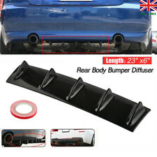 "23""x6"" Lower Rear Body Bumper Diffuser Shark 5 Fin Kit ABS Spoiler Universal"
