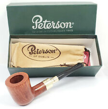 "2000 PETERSON PIPE 120 9KT GOLD SPIGOT ""NATURAL"" ~ UNSMOKED, NEW IN BOX"