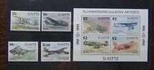 St Kitts Nevis 1993 75th Anniversary of RAF set & Miniature sheet LMM