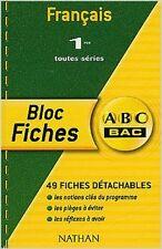 Collectif - ABC Bac - Bloc Fiches : Français, 1ère - 2004 - Broché