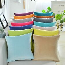 Solid Velvet Pillow Cushion Cover Home New Year Decorative