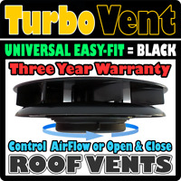 Low Profile 'Turbo 3' Van Camper Motorhome Roof Top Air Vent BLACK VW Volkswagen