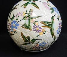 """HUMMINGBIRD Mosaic Sphere Sculpture Accent Ball Tile Art Ceramic Gazing 10 1/4"""""""