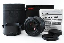 SIGMA AF30mm/f1.4 EX DC HSM SIGMA for SA Sigma with Box Lens cap,Hood.from Japan