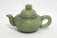 Very  Well  Hand  Carved  Chinese  Jade  Teapot  With  Mark