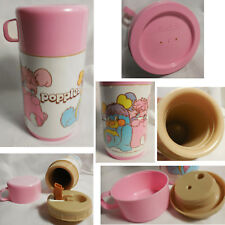 EXC to MINT Vintage 1986 Popples Pink Plastic Aladdin Lunch Box Thermos ONLY