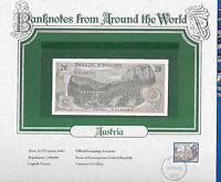 World Banknotes Austria 20 Schilling 1967 UNC P 142 Preix N