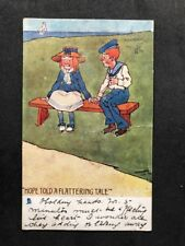 Vintage Postcard: Artist Signed Hamish #A439: 1904: Hope Told a Flattering Tale