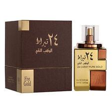 24 Carat Pure Gold 100ml By Lattafa Oud Rose Saffron Vanilla Perfume Spray