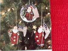 Americana Holiday Tin Christmas Ornaments Set Of 5  New Home Interiors & Gifts