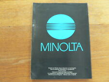 MINOLTA CAMERA NIEUWE XG-M,XG-1,XD-5,XD-7,CLE, AF2,G2,S2 BROCHURE,PROSPEKT 1979