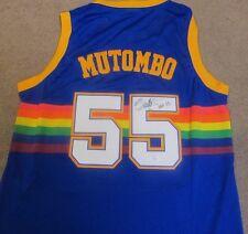 Dikembe Mutombo Champion Nuggets Signed Autographed Jersey JSA COA