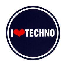 Slipmat - I Love Techno (1 Stück / 1 Piece) NEU!