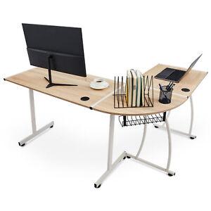 Bureau d'angle Bureau informatique Table d'angle design contemporain 3 couleurs