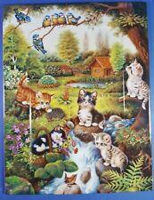 ANNABURG - JURGEN SCHOLZ - CAT KITTENS COLLECTORS PLATE / TILE THE JOY OF SPRING