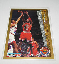 1992/93 Michael Jordan Chi Bulls NBA Fleer League Leader Card #238 NM-Mint Cond