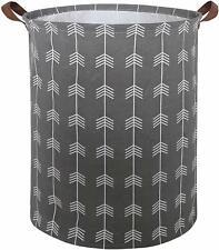 Storage Toy Baby Bin Cotton Basket Laundry Hamper Round w/ Handles Arrows NEW
