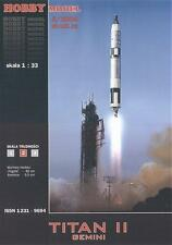Hobby Model 83-fusée titan II avec satellite Gemini 1:33