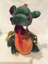Ganz Fergus Green/Orange/Gold/Red Fiery Dragon Plush Stuffed Animal