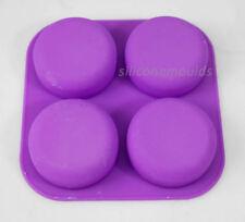 4 Cella rotonda Pebble Stone Bagno Silicone Sapone Stampo Vassoio-rende le barre 90 G 10-008