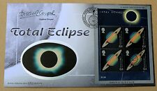 TOTAL ECLIPSE M/S 1999 BENHAM FDC SIGNED BY WRITER ON ASTRONOMY  HEATHER COUPER