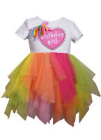 Bonnie Jean Birthday Girl Tutu Mesh Dress Party Pageant Spring Summer 2T 3T 4T