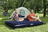 Airbed Quick Inflation  Camping Air Mattress with Built-In Pillow, Double