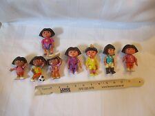Mattel Dora The Explorer Figures PVC Cake Topper Lot Girls Dollhouse toy parts