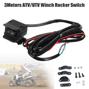 3Meter ATV/UTV Winch Rocker Switch Handlebar Control Line Warn Accessories Nylon